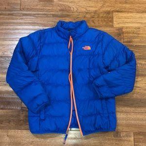Boys NorthFace puffy jacket (Large)